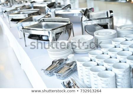 Catering yalıtılmış beyaz Metal restoran Stok fotoğraf © shutswis
