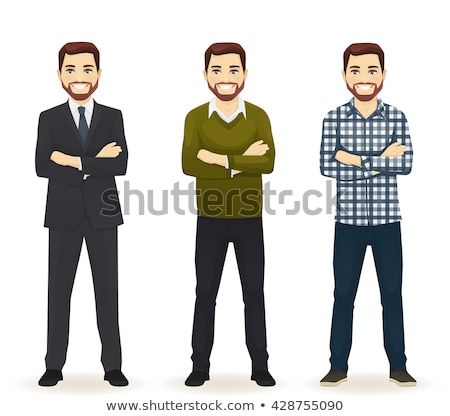 smiling man in casual business outfit isolated stock photo © juniart