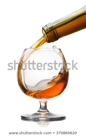 Botella coñac aislado vino aumentó diseno Foto stock © ozaiachin