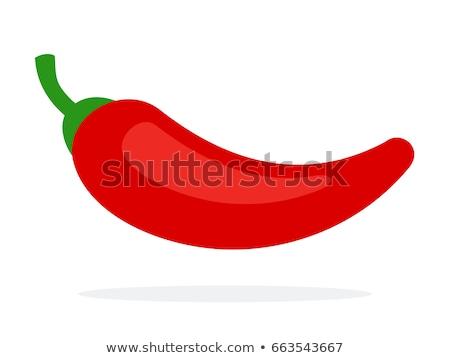 single red chili pepper Stock photo © Grazvydas