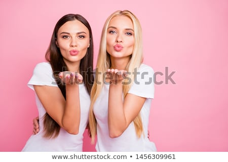 Dois jovem bastante mulher morena Foto stock © Pasiphae