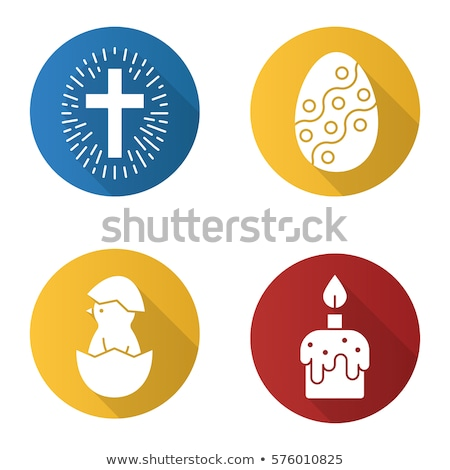 Stok fotoğraf: Vector Icon Cross And Candle