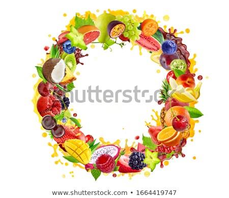 ストックフォト: 果物 · アレンジメント · イチゴ · パイナップル · 食品 · 健康
