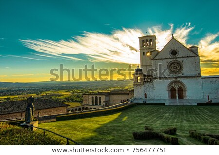 19 gökyüzü bahar Bina kilise mavi Stok fotoğraf © LianeM