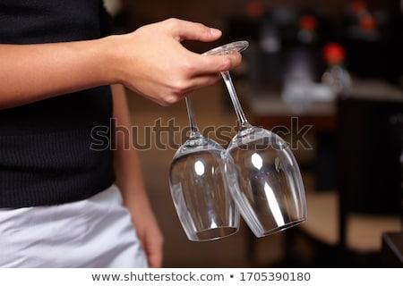 mannelijke · De · ober · glas · steeg · wijn - stockfoto © photography33