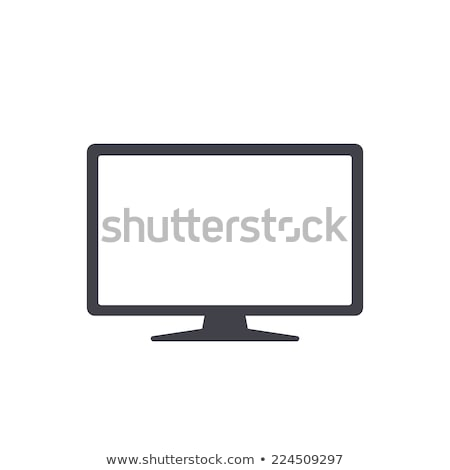 Lapos kijelző tv ikon internet terv monitor Stock fotó © tkacchuk