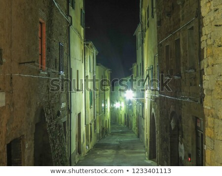 Night scene in Volterra Stock photo © w20er
