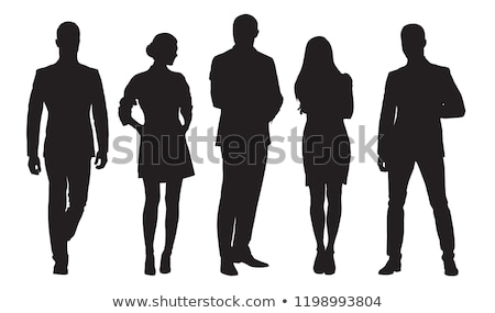 Vrouw silhouet jurk meisje oog abstract Stockfoto © anastasiya_popov