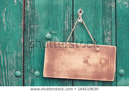 frame made of rope on a wooden background stock photo © inxti