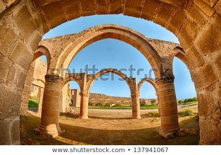 Arch and columns at Agios Sozomenos temple Stock photo © Kirill_M