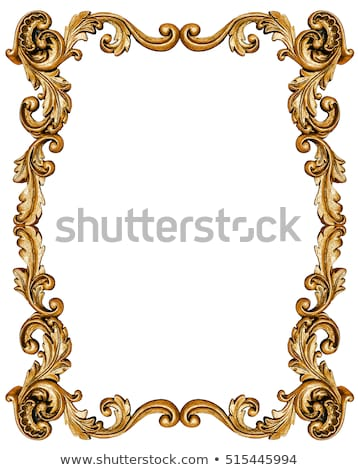 round background frame with gold ornamentation Stock photo © yurkina