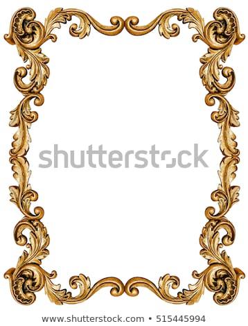 round background frame with gold ornamentation stock photo © yurkina