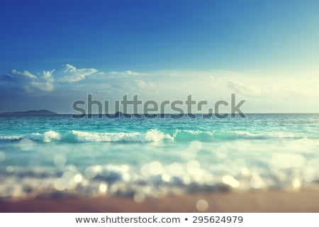 tropicales · océan · surf · coucher · du · soleil · temps · plage - photo stock © moses