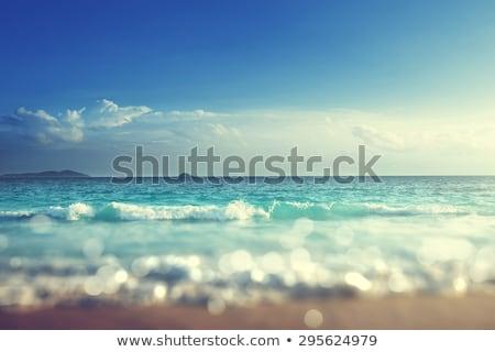 Stok fotoğraf: Tropikal · deniz · sahil · gün · batımı · zaman · plaj
