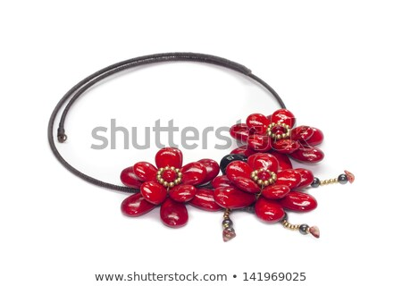 blue background with the golden flower of precious stones stock photo © yurkina