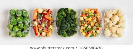 Fagyott zöldbab köteg aprított fehér étel Stock fotó © nito