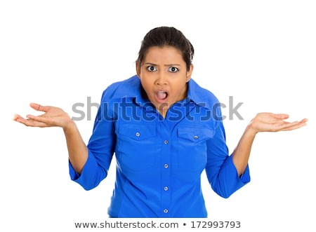 Indian young woman with shocked expression isolated on a white background Stock photo © bmonteny