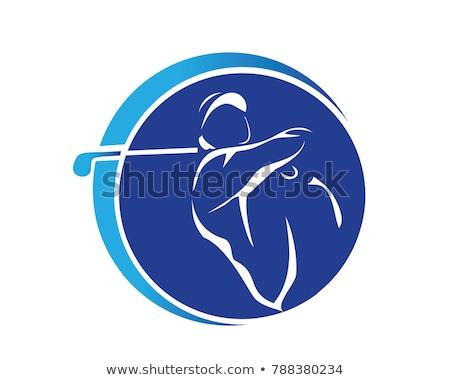 Kroki golfçü el golf boya arka plan Stok fotoğraf © kali