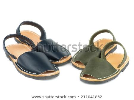 Baby sandały kolor skóry odizolowany biały Zdjęcia stock © zhekos