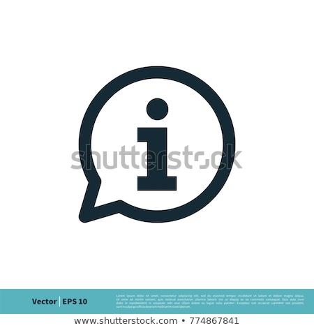 Info icône illustration bleu carré design Photo stock © nickylarson974