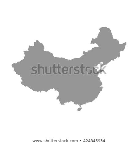 Térkép Kína különböző betűk fehér utazás Stock fotó © mayboro1964