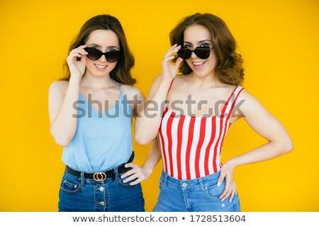 Veja óculos de sol retrato Foto stock © photosebia
