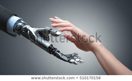 Ludzka ręka technologii symbol palce dłoni sieci Zdjęcia stock © Lightsource