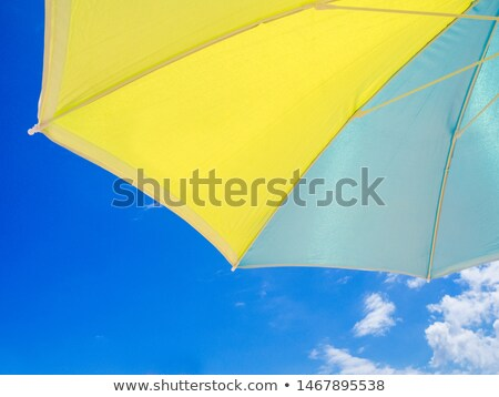 praia · sol · guarda-sol · blue · sky · Egito · paraíso - foto stock © matwatkins