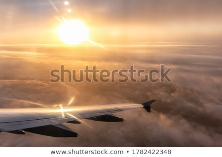 Right window view of wing of an jet airplane  Stock photo © ziprashantzi