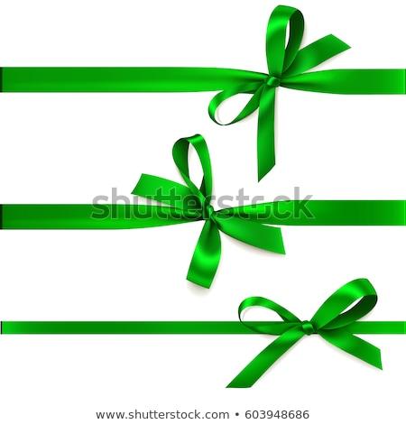Verde fita coleção isolado branco grupo Foto stock © zybr78