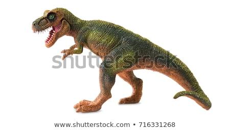 Dinozor oyuncak çağ beyaz eğlence kırmızı Stok fotoğraf © ia_64