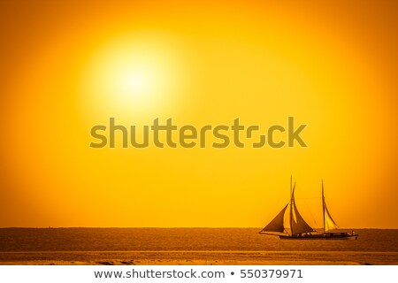 boat in the sunset of madagascar Stock photo © lkpro