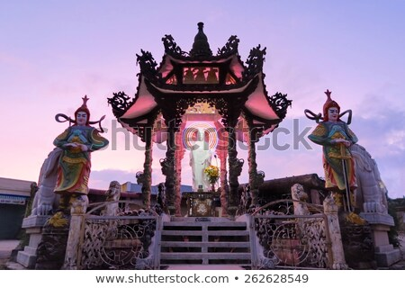 Pagode Vietnã budista pequeno aldeia Foto stock © jeayesy