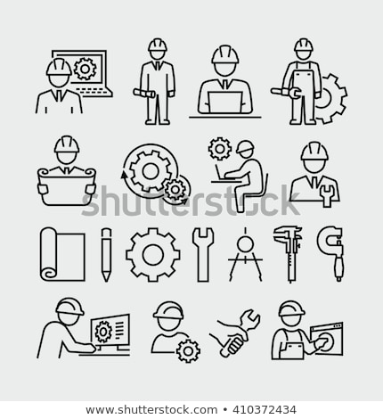 Manutenção serviço engrenagens diagrama estilo mecanismo Foto stock © tashatuvango