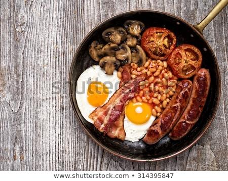 Rustic Full English Breakfast Stockfoto © zkruger