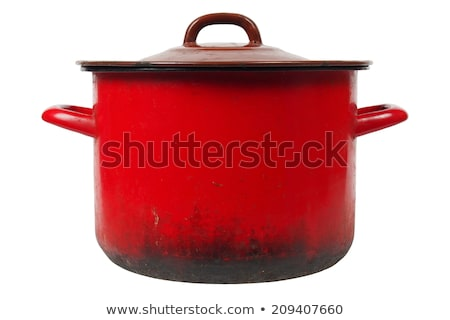 Old Cooking Pot Isolated Stock fotó © ajt