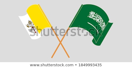 Saudi Arabia and Holy See - Vatican City State Flags Stock photo © Istanbul2009