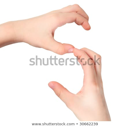 hands represents letter S from alphabet Stock photo © Paha_L
