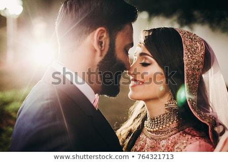 fiance and bride kiss Stock photo © Paha_L