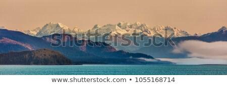 Puesta de sol alaska verano lago fauna agua Foto stock © wildnerdpix
