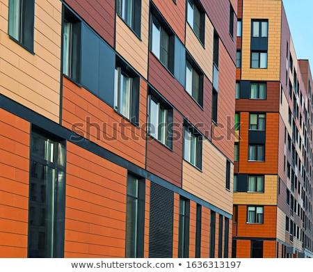 Residenziale costruzione dettaglio architettura moderna cielo blu copia spazio Foto d'archivio © stevanovicigor
