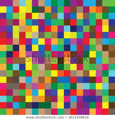 Tileable vibrant multicolored squares illustration. Stock photo © latent