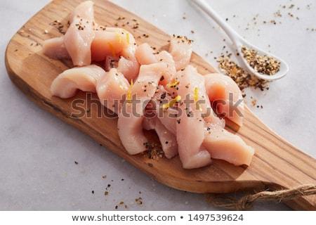 Preparing a chicken stir fry Stock photo © Digifoodstock