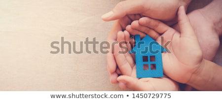 Habitação crise grupo família casas Foto stock © Lightsource