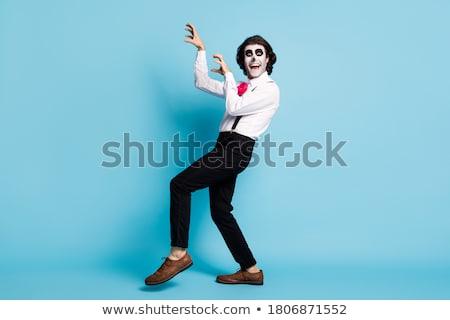 Młodych zombie ilustracja biały dziecko tle Zdjęcia stock © bluering