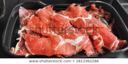мяса · закуска · древесины · пластина · коктейль - Сток-фото © digifoodstock