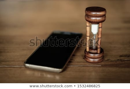 крайний срок деревянный стол слово бизнеса служба часы Сток-фото © fuzzbones0