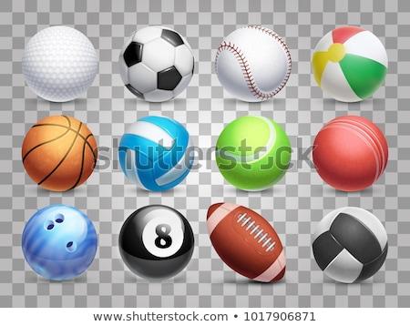 Stock fotó: Szett · sport · golyók · illusztráció · fehér · futball