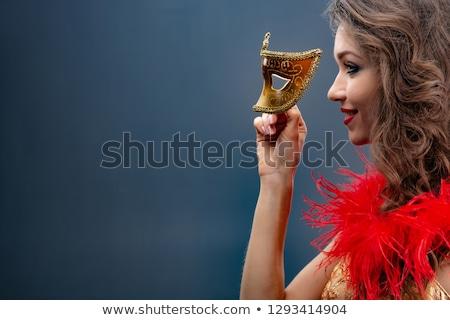 Gorgeous smiling woman in masquerade mask Stock photo © artfotodima