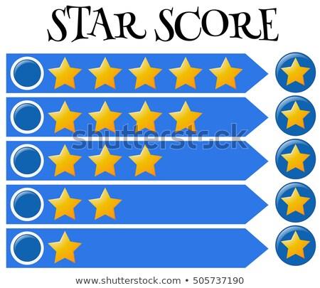 Puntuación bar estrellas azul banner ilustración Foto stock © bluering